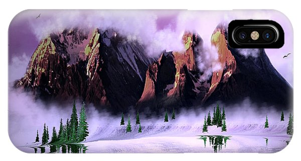 Cold Mountain Morning IPhone Case