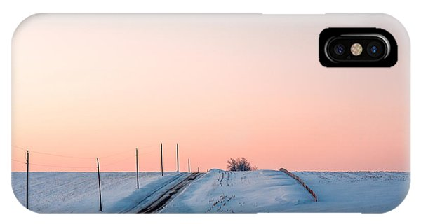 Snowy Road iPhone Case - Cold Resolute by Todd Klassy