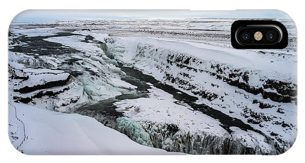 Cold Winter Day At Gullfoss, Iceland IPhone Case