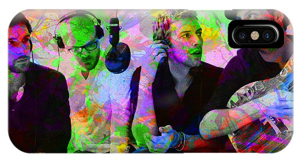 Coldplay iPhone Case - Coldplay Band Portrait Paint Splatters Pop Art by Design Turnpike