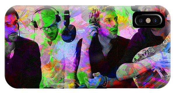 Coldplay Band Portrait Paint Splatters Pop Art IPhone Case