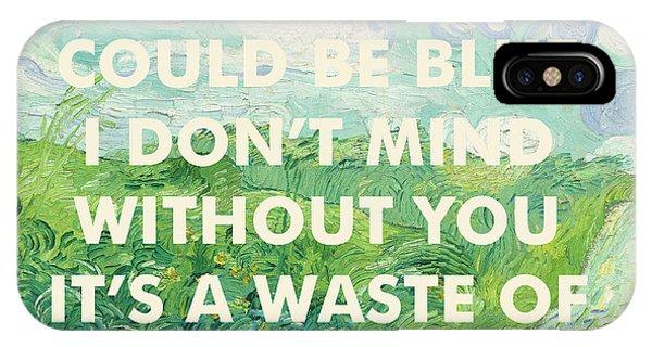 Coldplay Lyrics Art Print IPhone Case