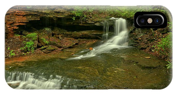 Somerset County iPhone Case - Cole Run Cave Falls Pa by Adam Jewell