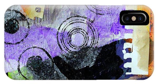 Violet iPhone Case - Collage No 1 by Nancy Merkle