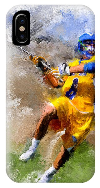 College Lacrosse Shot Phone Case by Scott Melby
