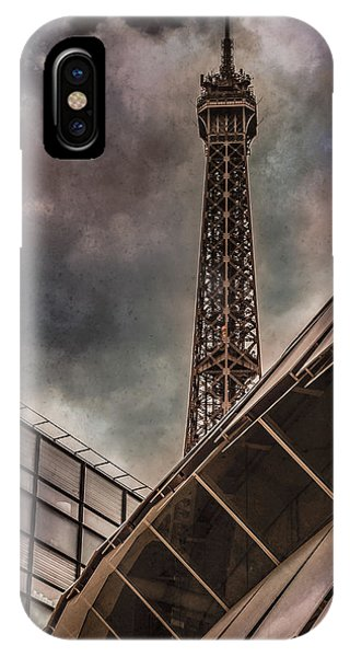 Paris, France - Colliding Grids IPhone Case
