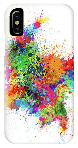 Colombian iPhone Case - Colombia Paint Splashes Map by Michael Tompsett