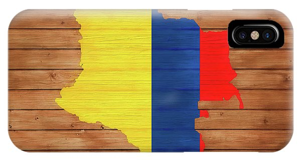 Traveler iPhone Case - Colombia Rustic Map On Wood by Dan Sproul