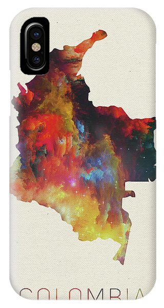 Colombian iPhone Case - Colombia Watercolor Map by Design Turnpike