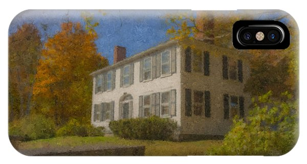 Colonial House On Main Street, Easton IPhone Case