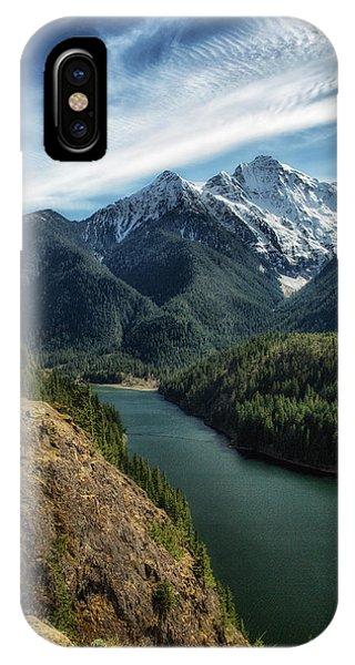 Colonial Peak Towers Over Diablo Lake IPhone Case
