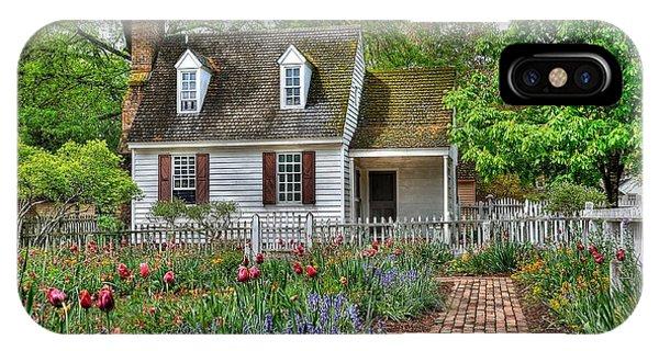 Colonial Williamsburg Flower Garden IPhone Case