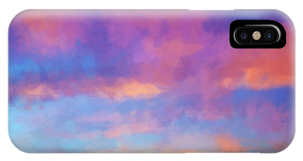 IPhone Case featuring the digital art Color Abstraction Xlviii - Sunset by Dave Gordon