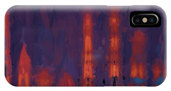 IPhone Case featuring the digital art Color Abstraction Xxxviii by Dave Gordon