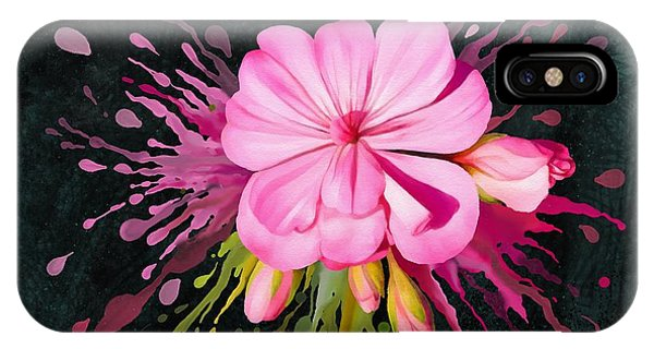 IPhone Case featuring the painting Color Eruption  by Ivana Westin