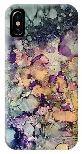 Purple Fire IPhone Case