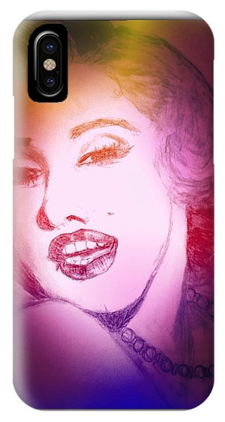 Color Rendition Of Marilyn Monroe #2 IPhone Case