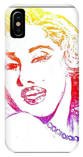 Color Rendition Of Marilyn Monroe IPhone Case