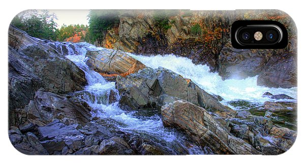 IPhone Case featuring the photograph Color Steps At Livermore Falls by Wayne King