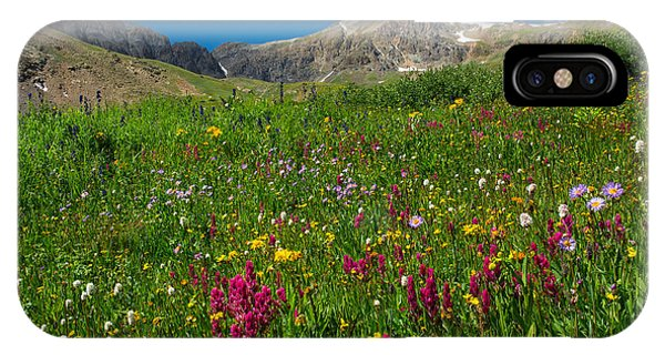 Indian Peaks Wilderness iPhone Case - Colorado 14er Handies Peak by Aaron Spong