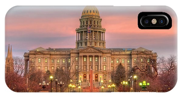 IPhone Case featuring the photograph Colorado Capital by Gary Lengyel