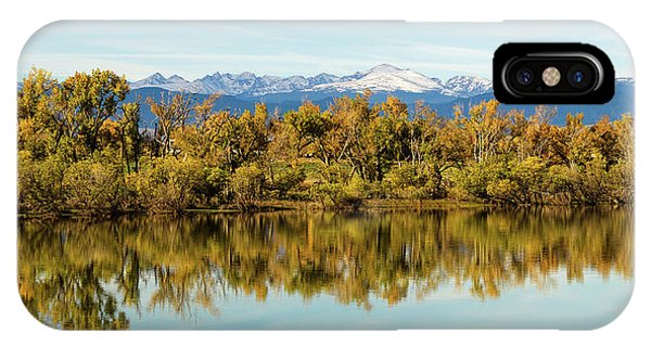 Colorado Continental Divide Autumn Reflections Panorama IPhone Case
