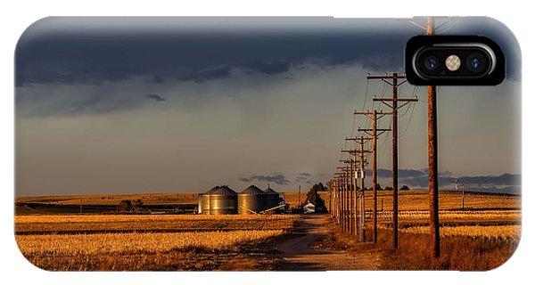 Colorado Farm Sunset IPhone Case