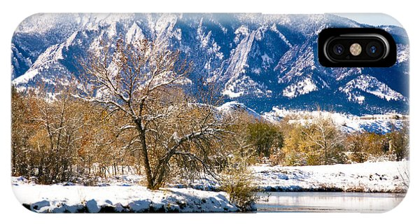 Colorado Flatirons 2 IPhone Case