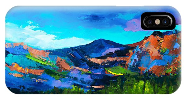 Fauvism iPhone Case - Colorado Hills by Elise Palmigiani