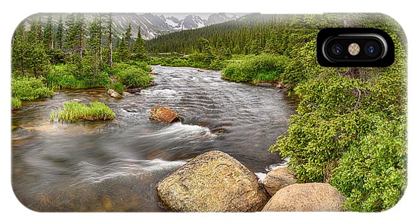Indian Peaks Wilderness iPhone Case - Colorado Indian Peaks Wilderness Creek Panorama by James BO Insogna