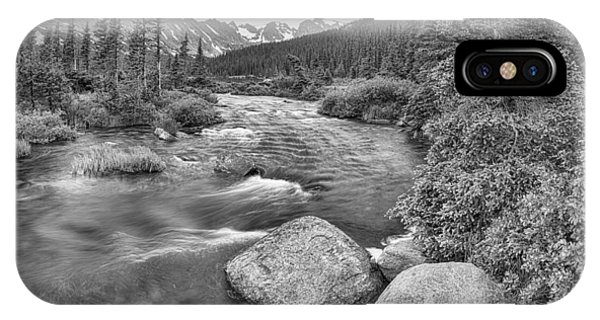Indian Peaks Wilderness iPhone Case - Colorado Indian Peaks Wilderness Panorama Bw by James BO Insogna