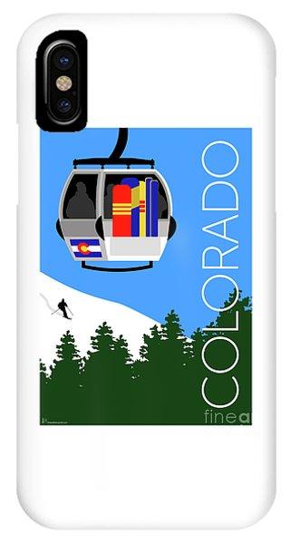 IPhone Case featuring the digital art Colorado Ski Country Blue by Sam Brennan
