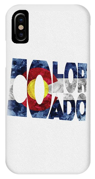 Colorado Typographic Map Flag IPhone Case