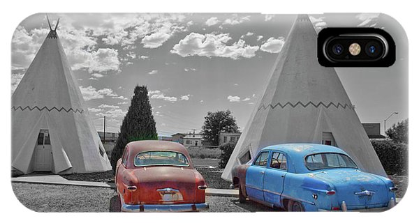 Colored Cars And Tee Pee Motel--holbrook IPhone Case