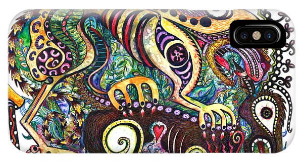 Colored Cultural Zoo D Version 2 IPhone Case
