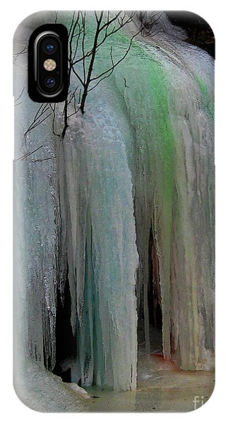 Colored Frozen Waterfalls Alont The Skeena  IPhone Case