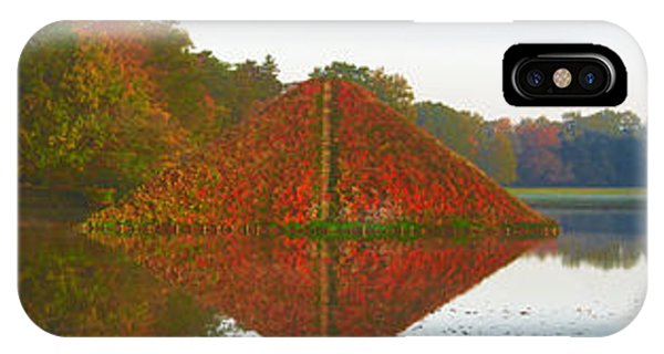 Colored Lake Pyramid IPhone Case