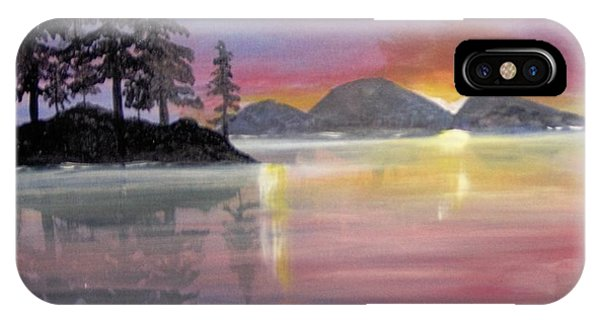 IPhone Case featuring the painting Colored Lake by Saundra Johnson
