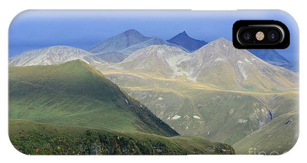 Colored Peaks Of The Caucasus IPhone Case