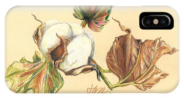 Colored Pencil Cotton Plant IPhone Case