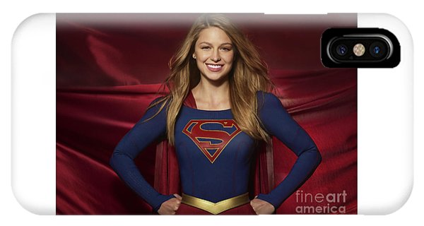 Colored Pencil Study Of Supergirl - Melissa Benoist IPhone Case