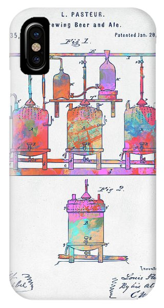 Brewery iPhone Case - Colorful 1873 Brewing Beer And Ale Patent Artwork by Nikki Marie Smith