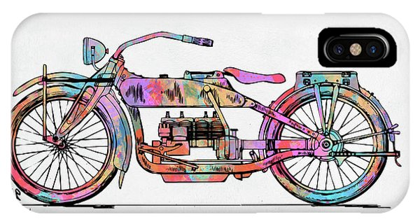 Patent Office iPhone Case - Colorful 1919 Harley-davidson Motorcycle Patent by Nikki Marie Smith