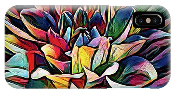Colorful Abstract Dahlia IPhone Case