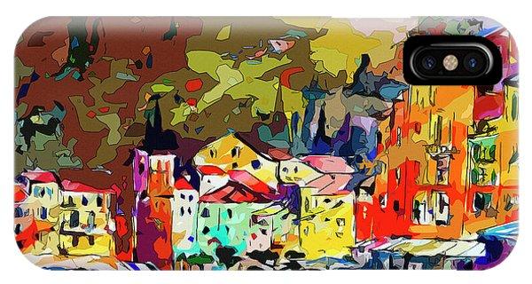 Colorful Abstract Italy Portofino Impression IPhone Case
