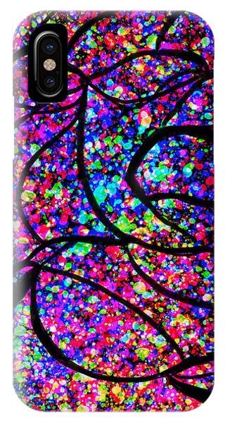 IPhone Case featuring the digital art Colorful Abstract Rose  by Cristina Stefan