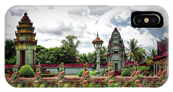 Colorful Architecture Siem Reap Cambodia  IPhone Case
