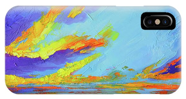 IPhone Case featuring the painting Colorful Beach Sunset Oil Painting  by Patricia Awapara