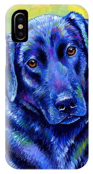 Colorful Black Labrador Retriever Dog IPhone Case