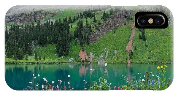 Colorful Blue Lakes Landscape IPhone Case